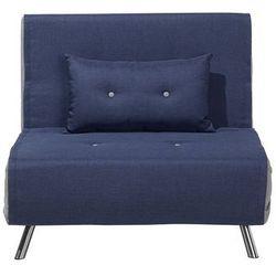 Sofa z funkcją spania niebieska FARRIS, kolor niebieski