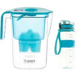 Bwt dzbanek filtrujący vida + sportowa butelka, niebieski