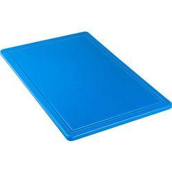 Deska do krojenia HACCP 600x400 mm, z wycięciem, niebieska | STALGAST, 341634