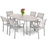 Home&garden Meble ogrodowe home&garden 827660 lorenzo aluminiowe srebrno-szary + darmowy transport! (5
