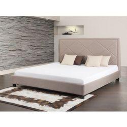 Lózko bezowe - lózko tapicerowane - 160x200 cm - MARSEILLE - produkt dostępny w Beliani