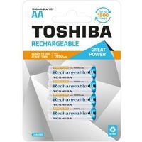 TOSHIBA Akumulatory Rechargeable AA R6 min. 1950mAh TOSHIBA AKU R6 1950mAh AA (5903240991334)