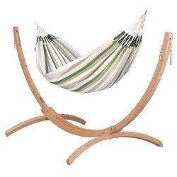 Hamaki la siesta Hamak ze stojakiem drewnianym brisa & canoa rodzinny