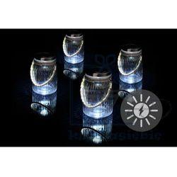 Garthen Zestaw 4 sztuk oświetlenia solarnego - szklane, wiszące