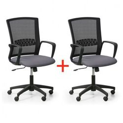 B2b partner Krzesło biurowe roy 1+1 gratis, szary