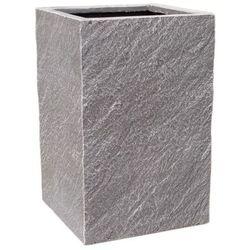 Cermax Donica kompozytowa kwadratowa 24 x 24 x 38 cm ciemny grafit (5908511282555)