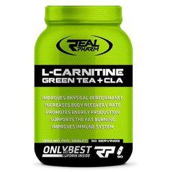 REAL PHARM L-carnitine Green Tea + Cla - 90tabs z kategorii Redukcja tkanki tłuszczowej