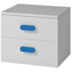 Stylowa szafka nocna z kolorowymi uchwytami Florentino 13X - biała