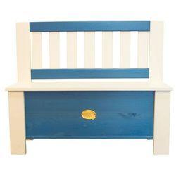 AXI Dziecięca ławka ze schowkiem Moby, niebiesko-biała, A031.041.00