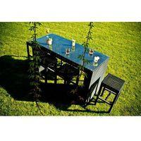 Bello giardino Zestaw mebli stołowych geniale czarny (ms.005.007)