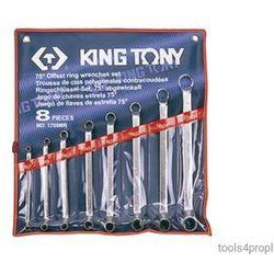 ZESTAW KLUCZY OCZKOWYCH ODGIĘTYCH 75° 8cz. 6 - 23mm King Tony 1708MR (4710591933330)