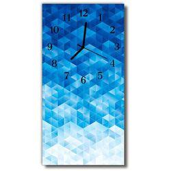 Zegar Szklany Pionowy Sztuka Abstrakcja grafika niebieski, kolor niebieski