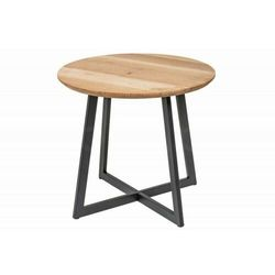 Sofa.pl Invicta stolik nocny vancouver 50 cm -dąb, lite drewno dębowe, metal
