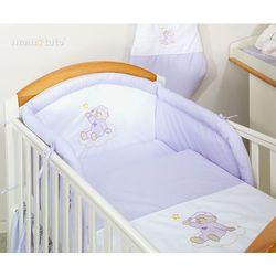 MAMO-TATO pościel 2-el Miś na chmurce w fiolecie do łóżeczka 70x140cm