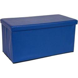 Stilista ® Duża niebieska składana pufa cube siedzisko kufer - niebieski