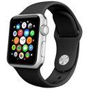CZARNY Sportowy silikonowy pasek do Apple Watch 42mm - Czarny, kolor czarny