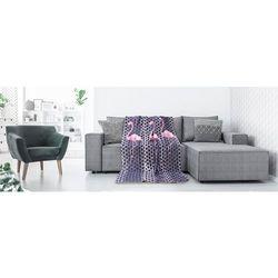 Deco king Koc narzuta cuddle 170x210 wzór flamingo