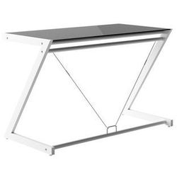 biurko DD Z-LINE DESK PLUS (120X60 CM) Biały stelaż i czarne szkło