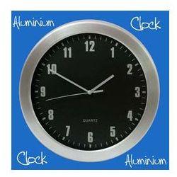 Zegar aluminiowy ścienny czarny