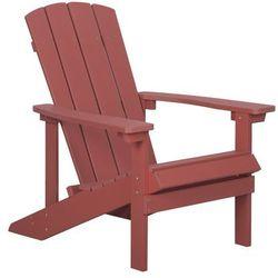 Krzesło ogrodowe czerwone adirondack marki Beliani