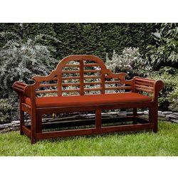 Ławka ogrodowa drewniana 180 cm poducha ceglasta TOSCANA Marlboro