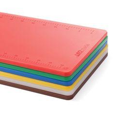 Deska do krojenia z polietylenu HACCP 500x380x12 mm, czerwona | HENDI, Perfect Cut