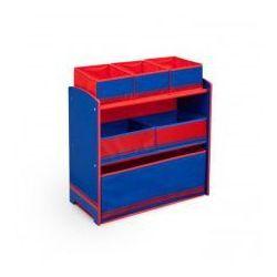 Niebieski Regał z 6 pojemnikami dla chłopca - sprawdź w wybranym sklepie