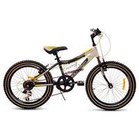Rower dziecięcy 20 Mountrek Team Pro czarno-żółty - czarno-żółty