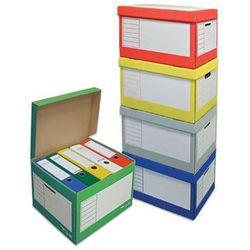 PRESSEL Pudło archiwizacyjne otwierane z góry 410x350x300mm mix kolorów, 20 sztuk