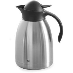 Hendi Termos do kawy z czarnym przyciskiem, 1,5 l   , 446607