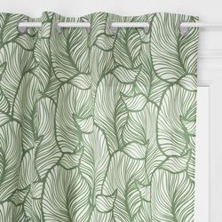 Zasłona z motywem roślinnym o wymiarach 140 x 260 cm wykonana z poliestru idealna ozdoba każdego wnętrza. marki Atmosphera