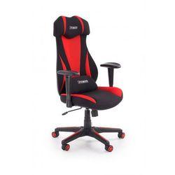 Fotel gabinetowy Galert - czarny + czerwony