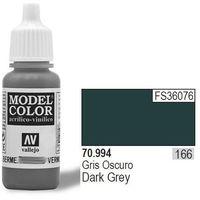 VALLEJO Farba Nr166 Dark Grey Matt 17ml, kup u jednego z partnerów