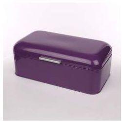 Chlebak metalowy kuferek fioletowy - produkt z kategorii- Chlebaki