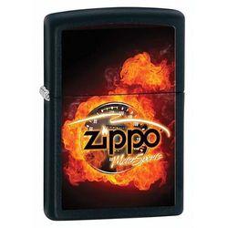 Zapalniczka ZIPPO Motor Sport, Black Matte (Z28335) z kategorii Pozostały camping i survival