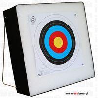 Mata łucznicza gruba piankowa ze stelażem 60x60x20cm - do łuku + tarcza 60x60