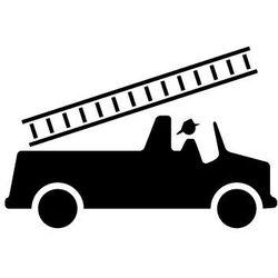 Szabloneria Szablon malarski z tworzywa, wielorazowy, wzór dla dzieci 69 - wóz strażacki