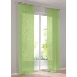 Bonprix Prześwitująca zasłona panelowa, jednokolorowa (1 szt.) zielony