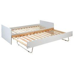 Łóżko wysuwane donovan - 90 × 190 cm - lakierowany na biały mat marki Vente-unique