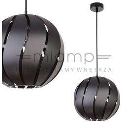 Wisząca LAMPA ażurowa GLOBUS SKOS 30999 Sigma metalowa OPRAWA z wycięciami ZWIS kula ball czarna, kolor Cza