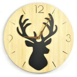 Zegar ścienny - Wild I - Deer