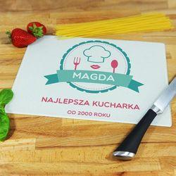 Najlepsza kucharka - deska do krojenia - deska średnia 25 na 20 cm marki Mygiftdna