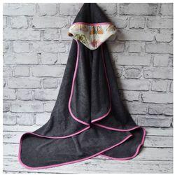 Bambusowy Ręcznik Kąpielowy z Kapturem, 90x130, Motyle / Szary CAMPHORA STUDIO, CAM3486