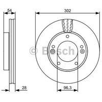 Bosch Tarcza hamulcowa  0 986 479 540 (4047024615274)