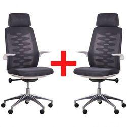 Krzesło biurowe z oparciem siatkowym sitta white 1+1 gratis, czarne marki B2b partner