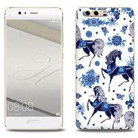 Fantastic case - huawei p10 plus - etui na telefon fantastic case - folkowe niebieskie konie marki Etuo.pl