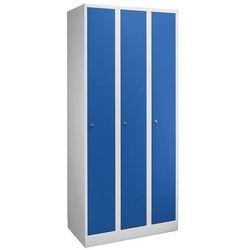 Szafa na garderobę w komfortowym rozmiarze, 3 przedziały, szer. przedziału 300 m