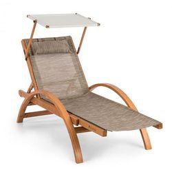 panamera leżak ogrodowy z dachem siateczka comfortmesh nośność: 150 kg kolor kremowy marki Blumfeldt