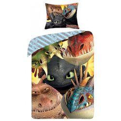 Halantex Dziecięca pościel bawełniana Jak wytresować smoka, 140 x 200 cm, 70 x 90 cm