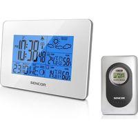 Sencor  sws 50 wh biala stacja pogody wew/zew temperatura/wilgotność duzy wyswietlacz led (8590669135943)